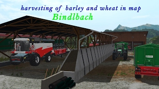 FARMING SIMULATOR 2017 harvesting of barley and wheat in map Bindlbach