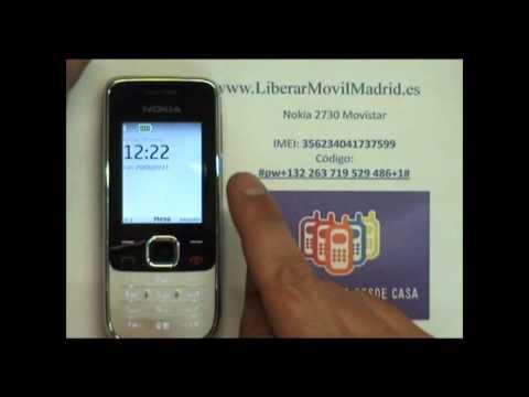 Liberar Nokia 2730 Movistar por Código IMEI - www.LiberarMovilMadrid.es