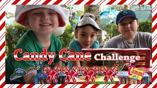 CANDY CANE CHALLENGE Cammi TV and Theme Park Brothers