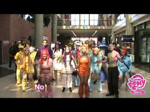 My Little Pony Cosplay @ Play [Lipdub video with Cutie Mark Crusaders bronies]