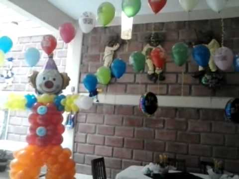 Decoracion con globos Ray martinez. De.  Payasos