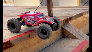 RC Cars for Kids - Maisto RC Rock Crawler Unboxing - $20 RC Car Test Drive - Toy Trucks for Kids