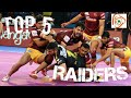 TOP 5 RAIDERS IN PKL 5 TILL NOW