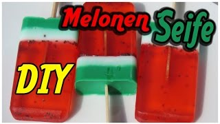 Melonen Seifen DIY - How to make a watermelon soap