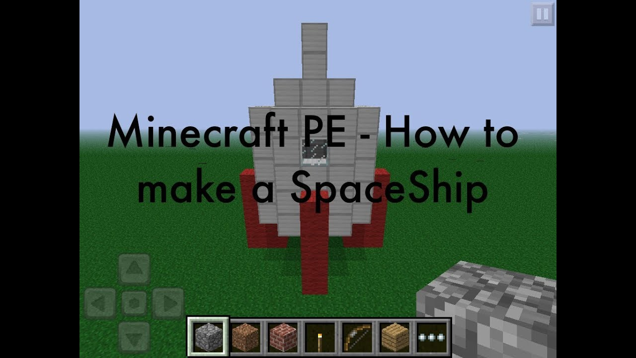 How To Build A Rocket Ship In Minecraft Pe