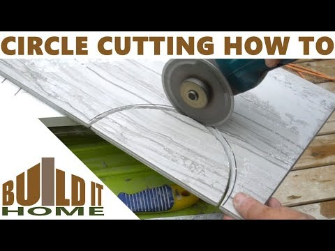 Cutting round holes in ceramic tile