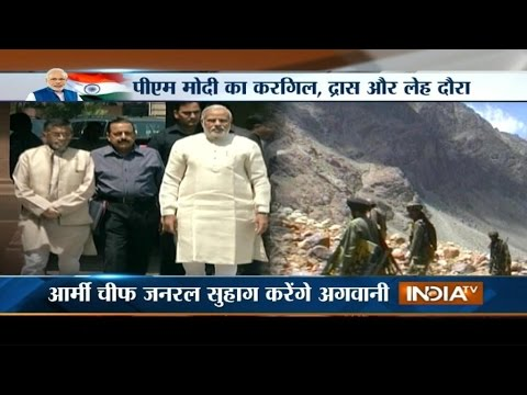 PM Narendra Modi Arrives In Leh, Kargil Today On Maiden Visit - India TV