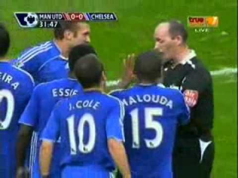 John Obi Mikel  Red Card vs Manchester United.flv
