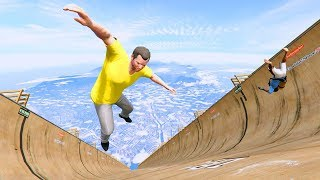 GTA 5 Crazy Jumper/Falls compilation #5 (GTA 5 Fails Funny Moments/Ragdolls)