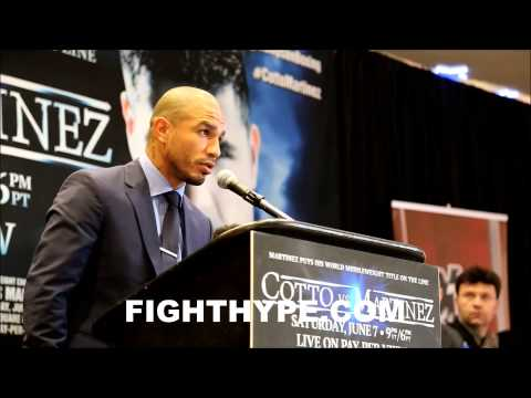 MIGUEL COTTO TO SERGIO MARTINEZ TRY TO DO YOUR BEST IM GOING TO DO MY BEST