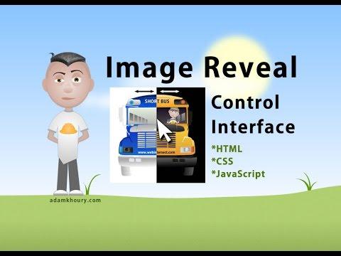 Dual Image Reveal Control Tutorial JavaScript CSS HTML