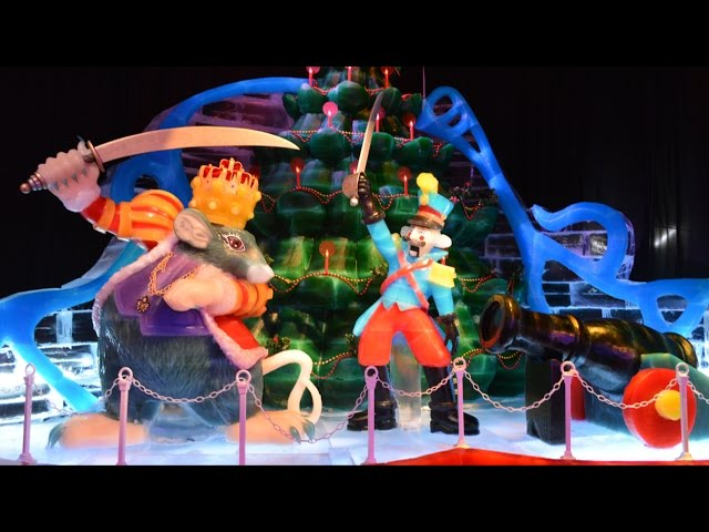 ICE! at Gaylord Palms 2014 Featuring The Nutcracker FULL Walk-Through Including Slides and Ice Bar