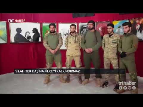 Azez'de, ÖSO birliklerinin resimlerinden oluşan sergi açıldı