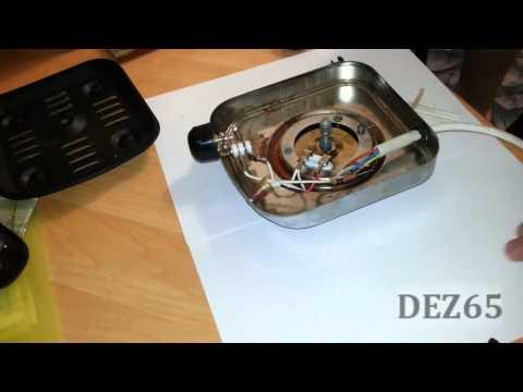 Ремонт настольной электрической плитки своими руками