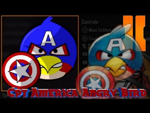 Black Ops 2 - Captain America   Angry Bird Emblem Tutorial video