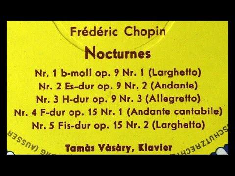 Chopin / Tamas Vasary, 1965: Nocturnes, Op. 9 - Complete - DG 136 486