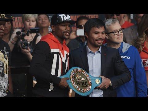 Floyd Mayweather vs. Manny Pacquiao Staredown