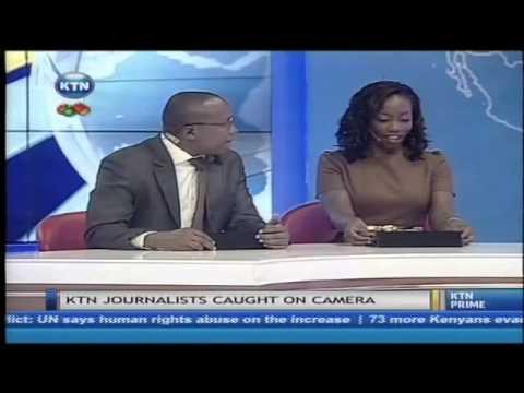 KTN journalist caught on camera