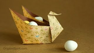 Easy Origami Swan Container for Festive Occasions!
