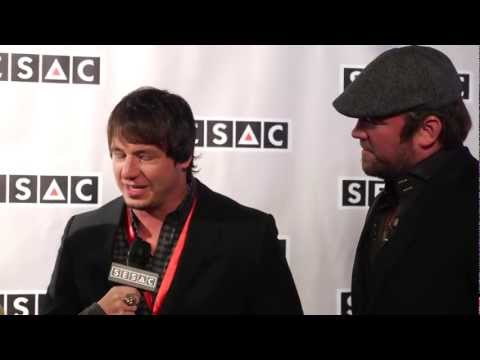 Jon Stone & Lee Brice on the red carpet at the SESAC Awards