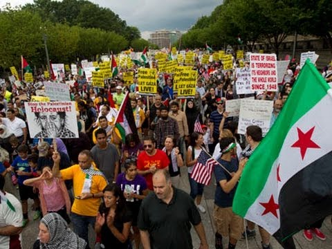 Raw: Mideast Demonstrations Near White House