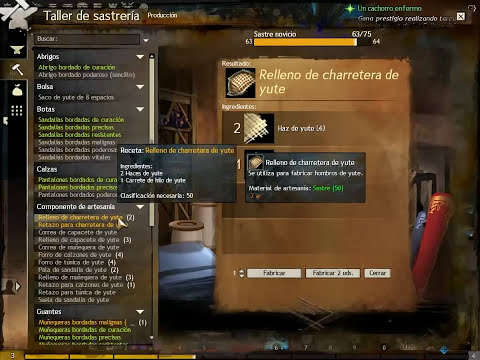 Guild Wars 2 Guía Sastrería 1 a 75