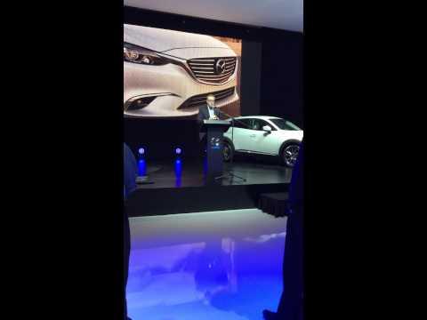 Conférence de presse du lancement de la Mazda 2 et du Mazda CX-3.