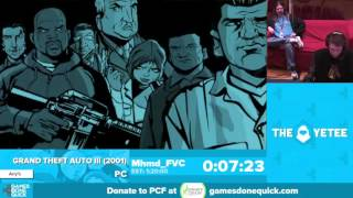 Grand Theft Auto III by Mhmd_FVC in 1:18:59 - Awesome Games Done Quick 2016 - Part 104