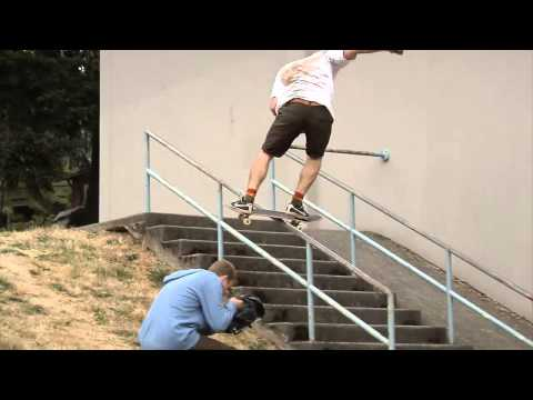 BACKSIDE LIPSLIDE TO FAKIE 12 STAIR HANDRAIL | SHANE ELLIS