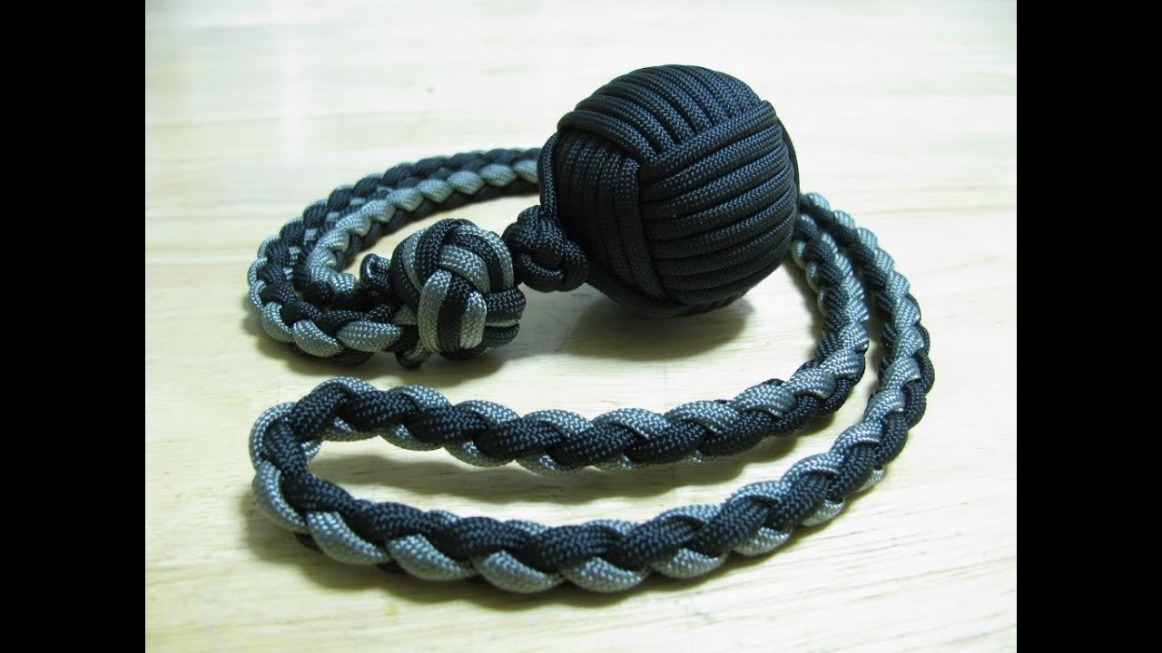 How to tie a monkey fist knot
