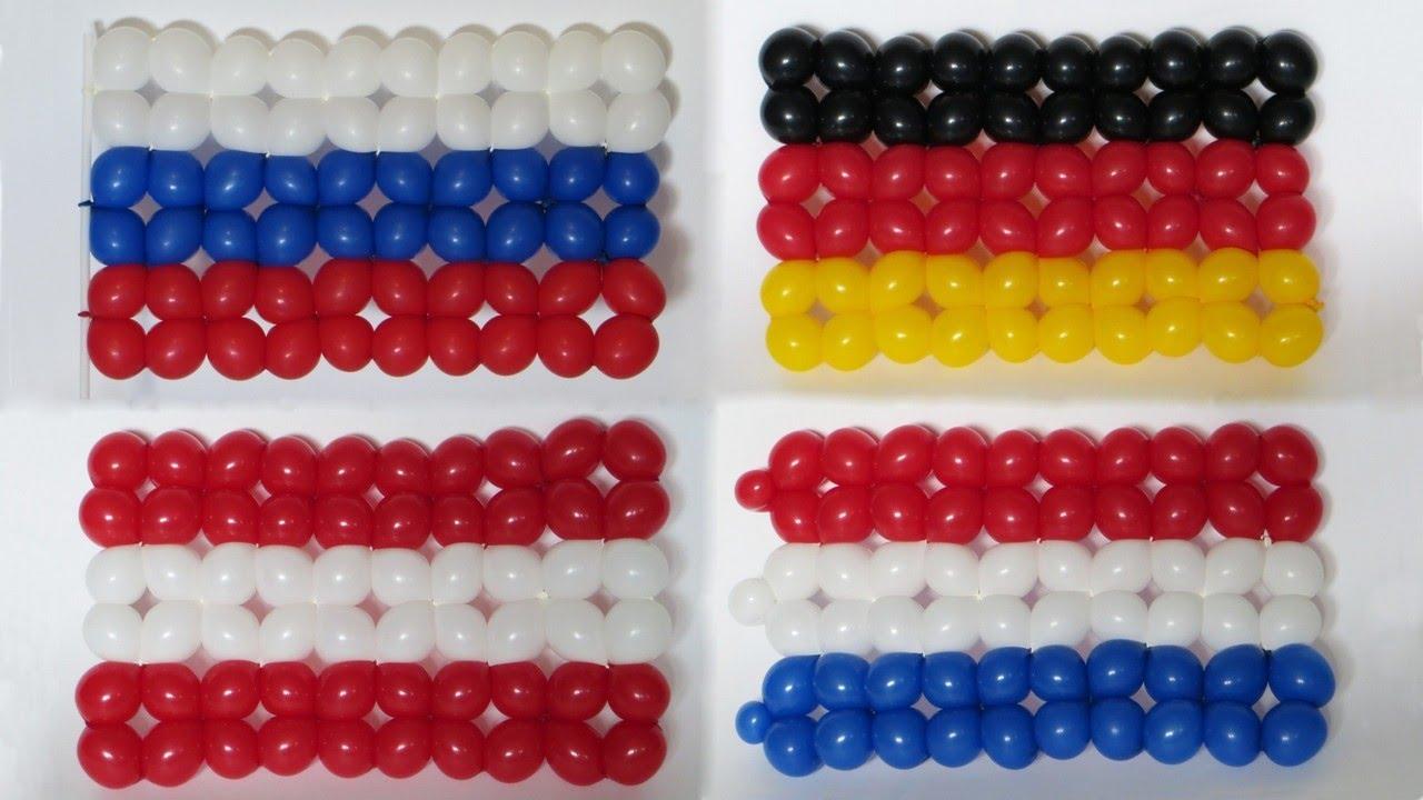 Флаг россии из шаров своими руками 643