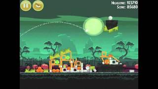 Angry Birds Seasons Ham'o'ween 2-14 Halloween 2012 Hamoween Walkthrough 3 Star