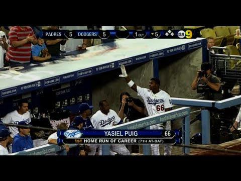 Yasiel Puig Hits 2 Home Runs In 2nd Game. 6/4/13