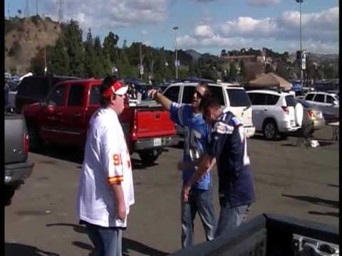 Kansas City Chiefs fan drunk and crazy