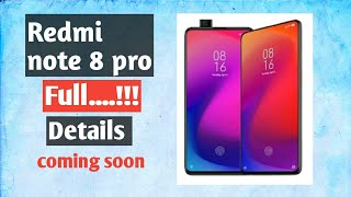 || Redmi Note 8 pro full specs || camera , display , processor || #redminote8profaq || telugu lo ||