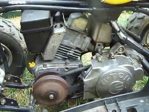 E-TON Viper 70 ATV Mod 6hp Engine Swap Tranny Hack DIY