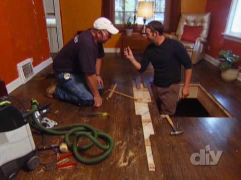 Hardwood Floor Repair-DIY