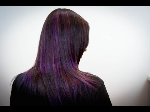 Concave Layer Haircut with Parentheses Color Technique on Long Hair