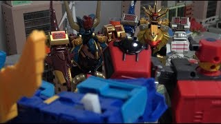 Power Rangers Wildforce vs Hello Carbot Robot Toys Fight Play 파워레인저 정글포스 vs 헬로카봇 로봇 장난감 놀이