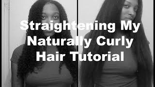 How To Straighten Curly Hair