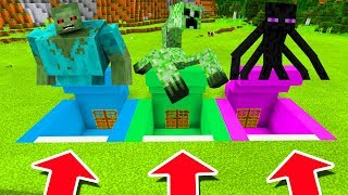 Minecraft PE : DO NOT CHOOSE THE WRONG SECRET BASE! (Mutant Zombie, Mutant Creeper & Enderman)