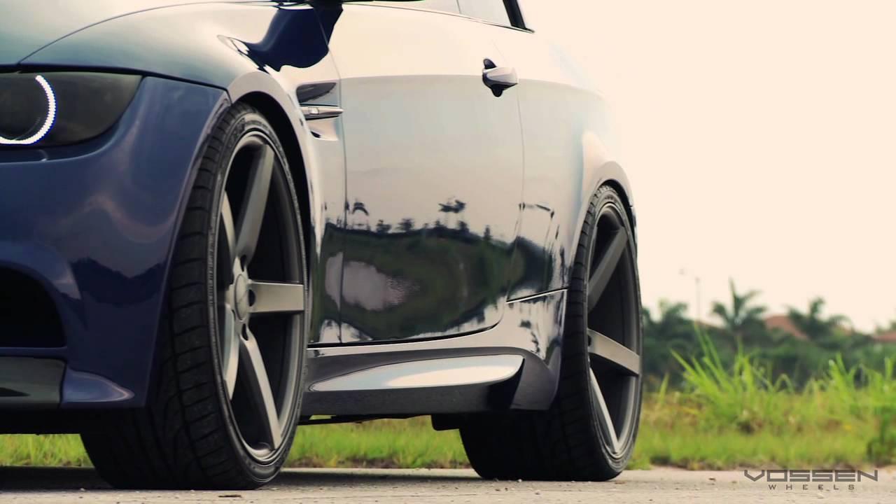 Bmw M3 Convertible On 20 Quot Vossen Vvs Cv3 Concave Wheels