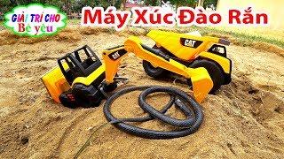 ĐỒ CHƠI MÁY XÚC XE ỦI | Toy excavators, bulldozer| Giải trí cho Bé yêu