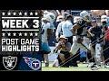 Raiders vs. Titans | NFL Week 3 Game Highlights MP3