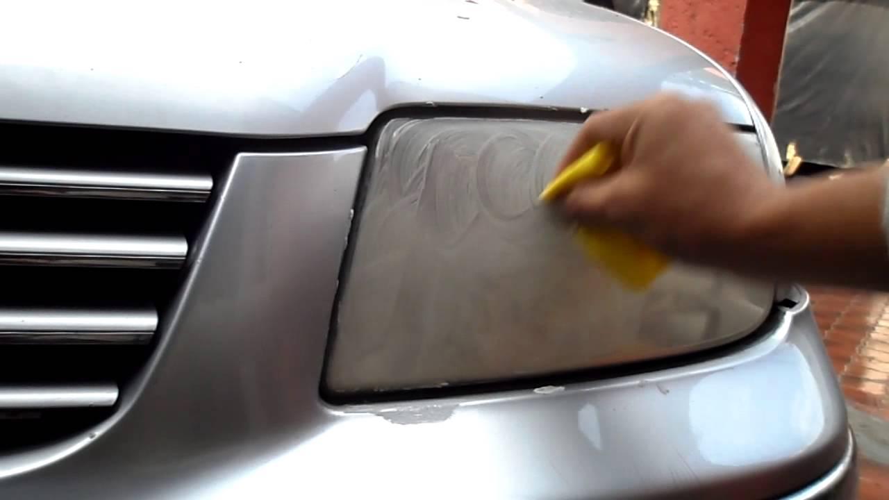 Tutorial como pulir faros de auto profesionalmente en - Como pulir faros de coche ...