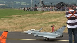 Eurofighter Typhoon RC Jet Turbine on Air Force Base | Big Scale