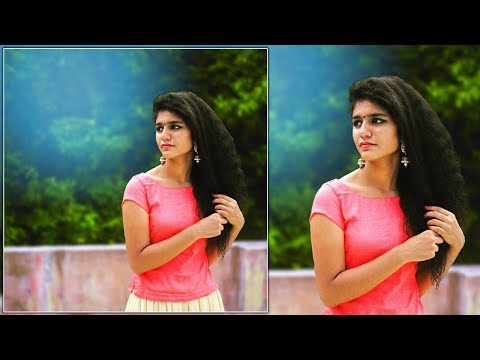 Priya Prakash Varrier Photo Editing Tutorial (Whatsapp status queen)