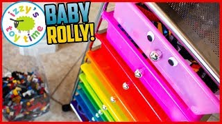 BABY ROLLY IS BORN! Mega LEGO Storage! Time to make some Police and Construction and Firetruck toys!