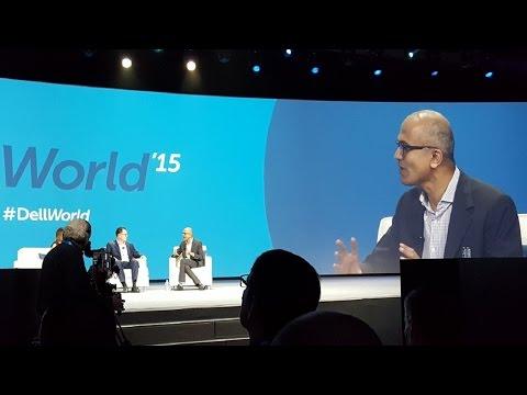 Microsoft CEO Satya Nadella speaks at Dell World 2015