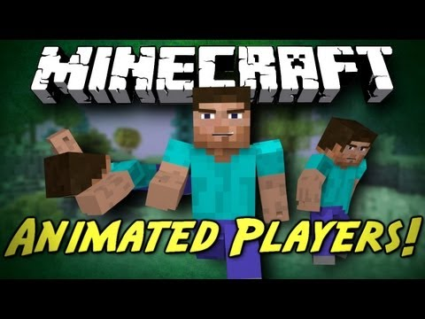 Minecraft Mod Showcase: Animated Players! [BETTER ANIMATIONS FOR YOU CHARACTER!]